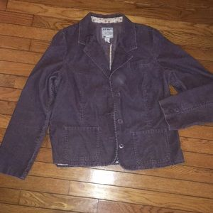 Old Navy Purple Corduroy Blazer Jacket, XL